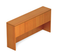 """Offices to Go Medium Cherry 71"""" Overhead Hutch with Doors"""
