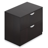 """Offices to Go Espresso Laminate 2 Drawer Lateral File with Lock 36"""" x 22"""" x 29-1/2"""""""