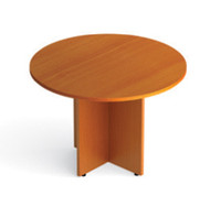 Offices to Go American Cherry Luminary Series Circular Conference Table