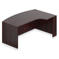 """Offices To Go 71"""" Bow Front Desk Shell with Right Corner Extension"""