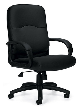 Offices to Go Luxhide Executive Chair with Fixed Height Molded Arms
