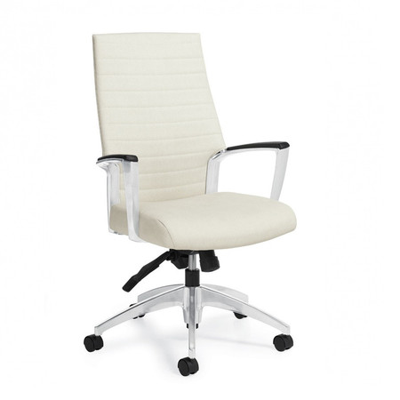 Global White Accord Executive High Back Pneumatic Office Chair