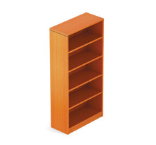 Offices to Go Cherry 4 Shelf Bookcase