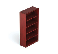 "Offices to Go Cordovan Margate 5 Shelf Bookcase 36"" x 15"" x 70"""