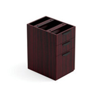 Offices to Go 3 Drawer Pedestal in Mahogany