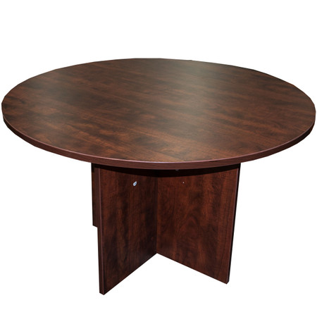 "Offices to Go 48"" Dark Cherry Round Gathering Table"