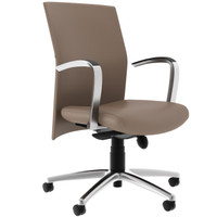 Compel Pinnacle Dune Leather Conference Chair