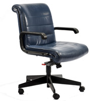 Knoll Sapper Series Blue Mid-Back Chair