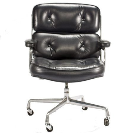 Herman Miller Grey Eames Time Life Leather Executive Chair