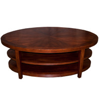 "48"" Cherry Oval Coffee Table"