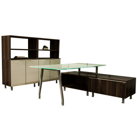 DMI Inigo Series Glass Desk Office Set