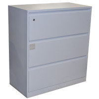 Steelcase White Three Drawer Lateral File