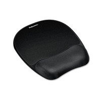 Mouse Pad w/Wrist Rest, Nonskid Back