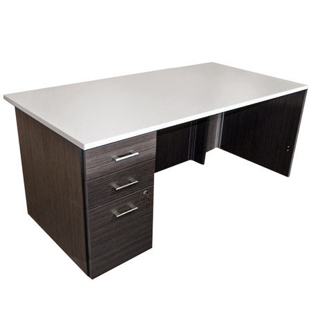 Global Zira Series Desk With White Work Surface
