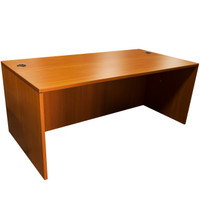 "Global 36"" x 71"" American Cherry Desk Shell"