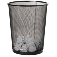 Rolodex 4 1/2 Gallon Round Steel Mesh Trash Can in Black