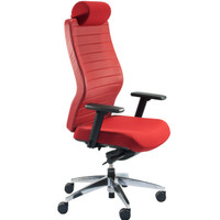 Global Aspen™ Series Red High Back Executive Chair