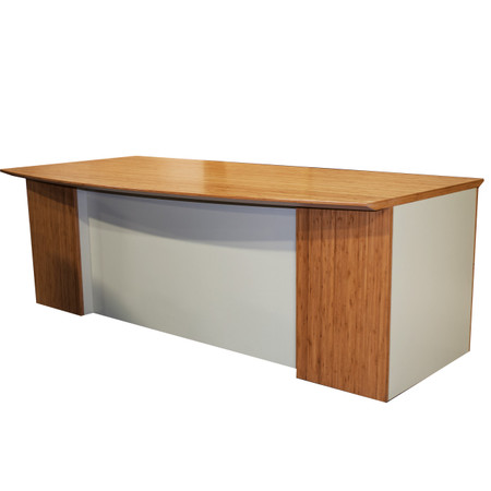 Global Dufferin™ Series Maple Bow Front Series Desk