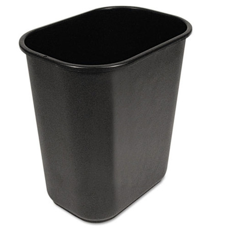 Black Soft-Sided Wastebasket-28qt