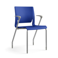 Sit On it Rio Series Blue Stacking Guest Chair