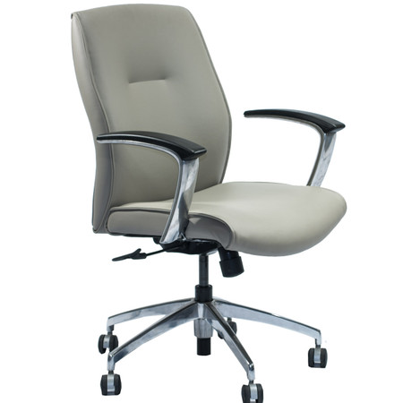 Paoli Leather Executive Office Chair With Chrome Base