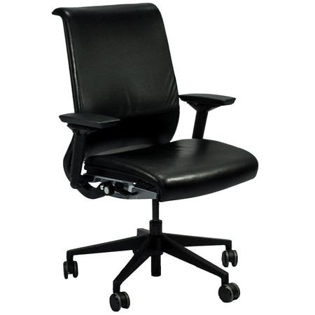 Steelcase Think Series Black Leather Multi-Function Task Chair