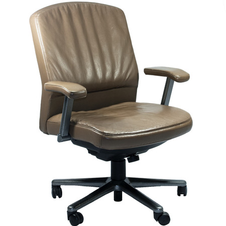 Steelcase Vecta 4 O\'clock Series Executive Leather Office Chair