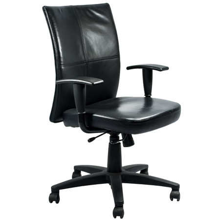 Steelcase Turnstone Series Black Leather Office Chair