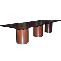 Knoll 12' Espresso Wood Conference Table