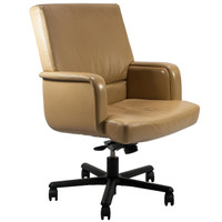 Paul Brayton Tan Leather Swivel-Tilt Executive Chair