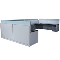 Allsteel Two 8' x 8' Double Teaming Work Stations