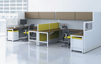 AIS Divi Series Modular Two Pack Of Workstations