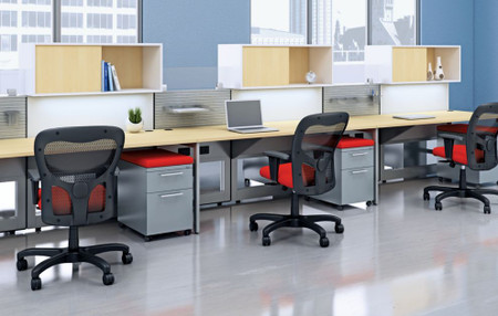 AIS Matrix Series Modular Six Pack Of Benching/Workstations