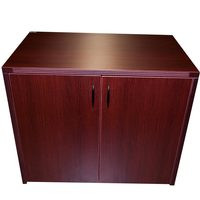 "Cherryman Mahogany Laminate 36"" Two Drawer Storage Cabinet"