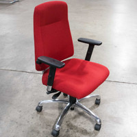 Global Indulge Series Red Fabric Executive Chair