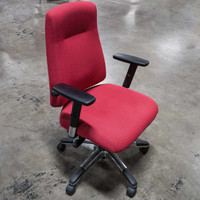 Global Indulge Series Executive Task Chair- Red Pepper Fabric