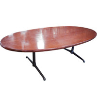 "Cherry Oval 48"" x 96"" Conference Table"