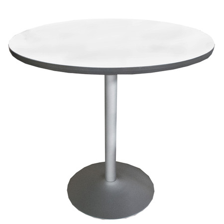 """42"""" Round Bar Height Table With Silver Metal Base"""