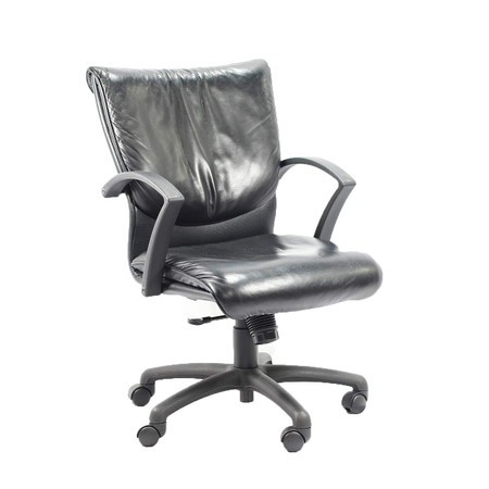 TradeMark Task Chair Black Leather