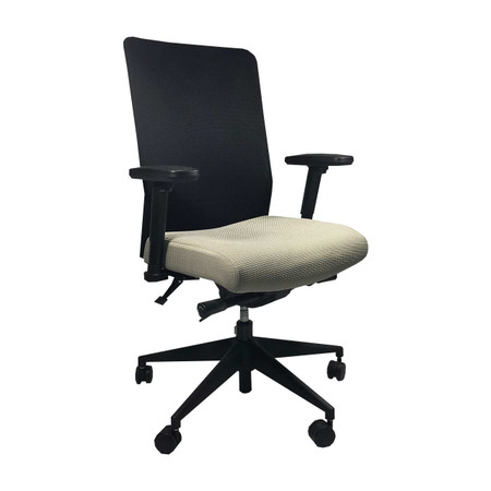 Allsteel Lyric Series Task Chair With Tan Upholstered Seat Mesh Back