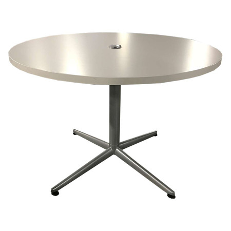 """36"""" Round Laminate Break-Room Table With Silver Base & Gormment"""