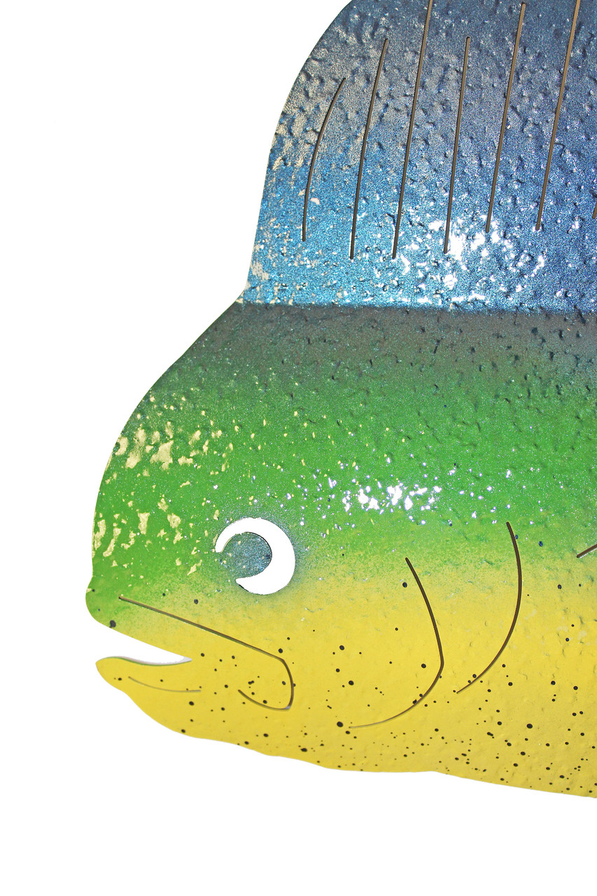 Metal art mahi mahi dolphin deep sea fishing sculpture for Dolphin deep sea fishing