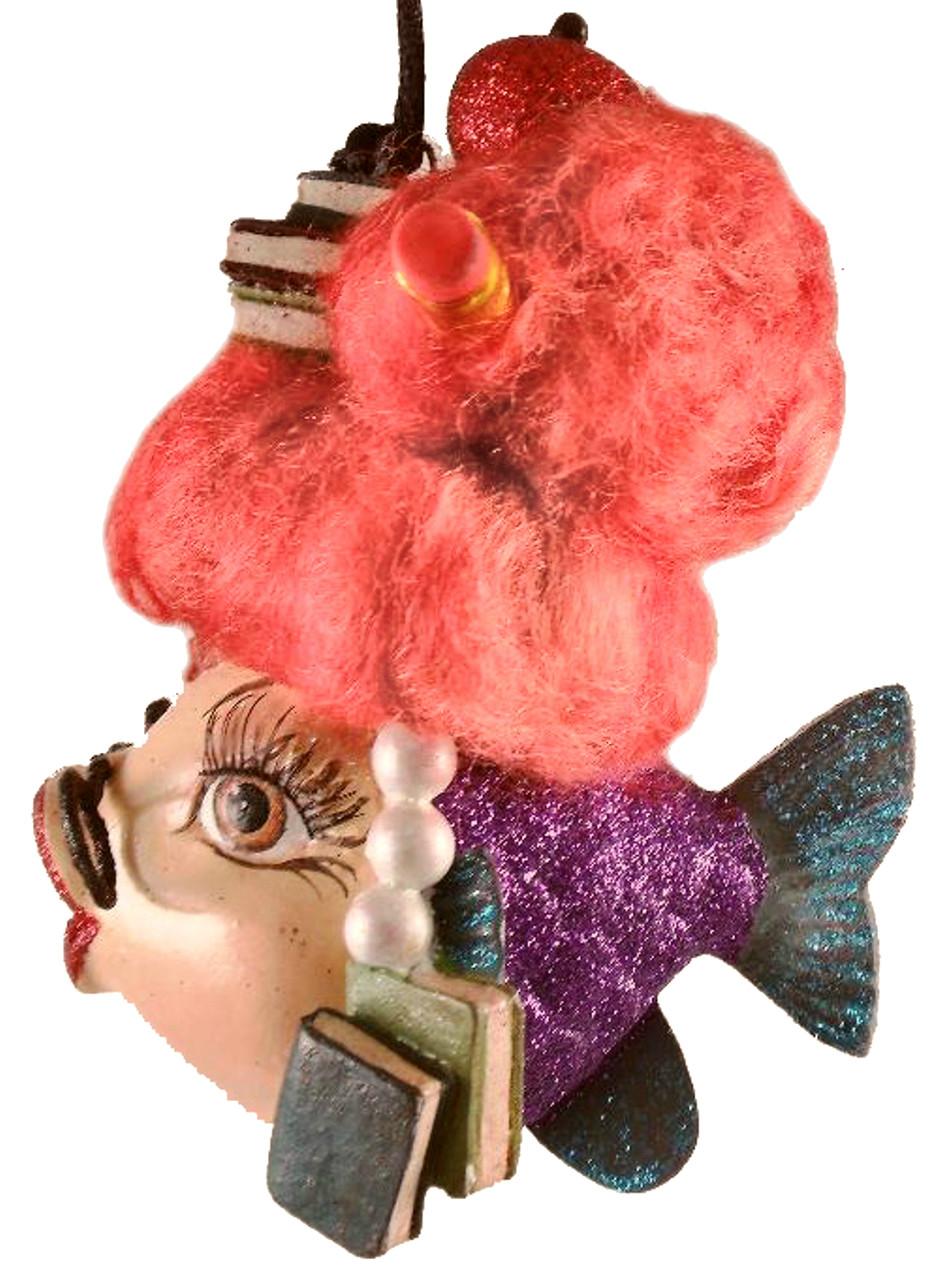 Kissing fish ornament - School Teacher Kissing Fish Christmas Ornament Purple