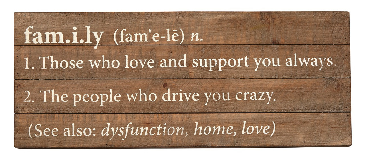 Family definition planked wood 20 inch shadowbox style - Plaque de finition ...