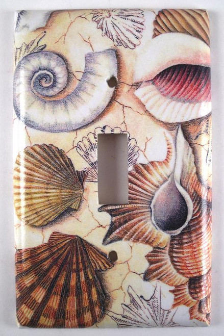 Beach Sea Shell Collection Single Switchplate Cover