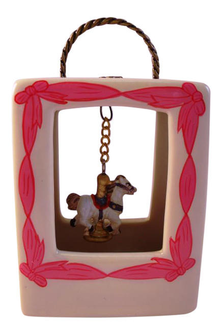 Carousel Horse Purse Shape Hinged Miniature Trinket Box