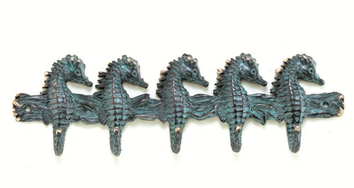 Antique Reproduction Brass Seahorse Sea 10 Inch Wall Hook SPI Home