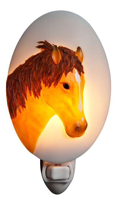 Horse Night Light Brown Colt Filly Stallion Steed Pony Bonded Marble