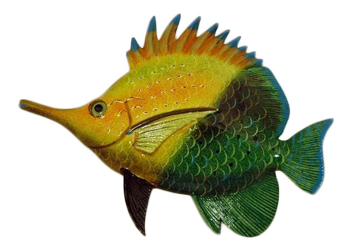 Buy 1 get 1 free long nose tropical fish wall decor bogo for Big nose fish