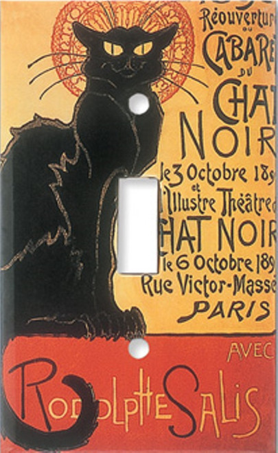 Chat Noir Black Cats Cat Single Switchplate Cover
